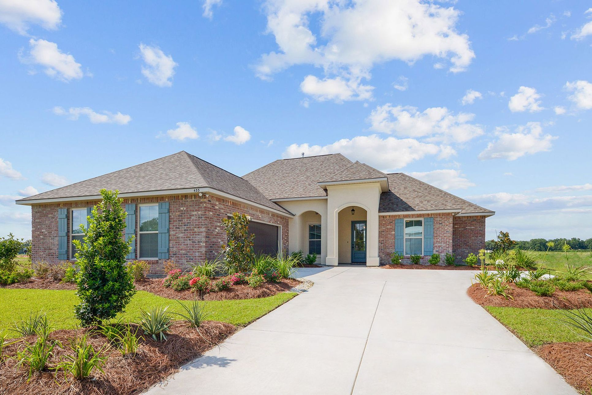 new homes in maurice, la by dsld homes:The Reserve at Conway Model Home Pictures- Front of Home