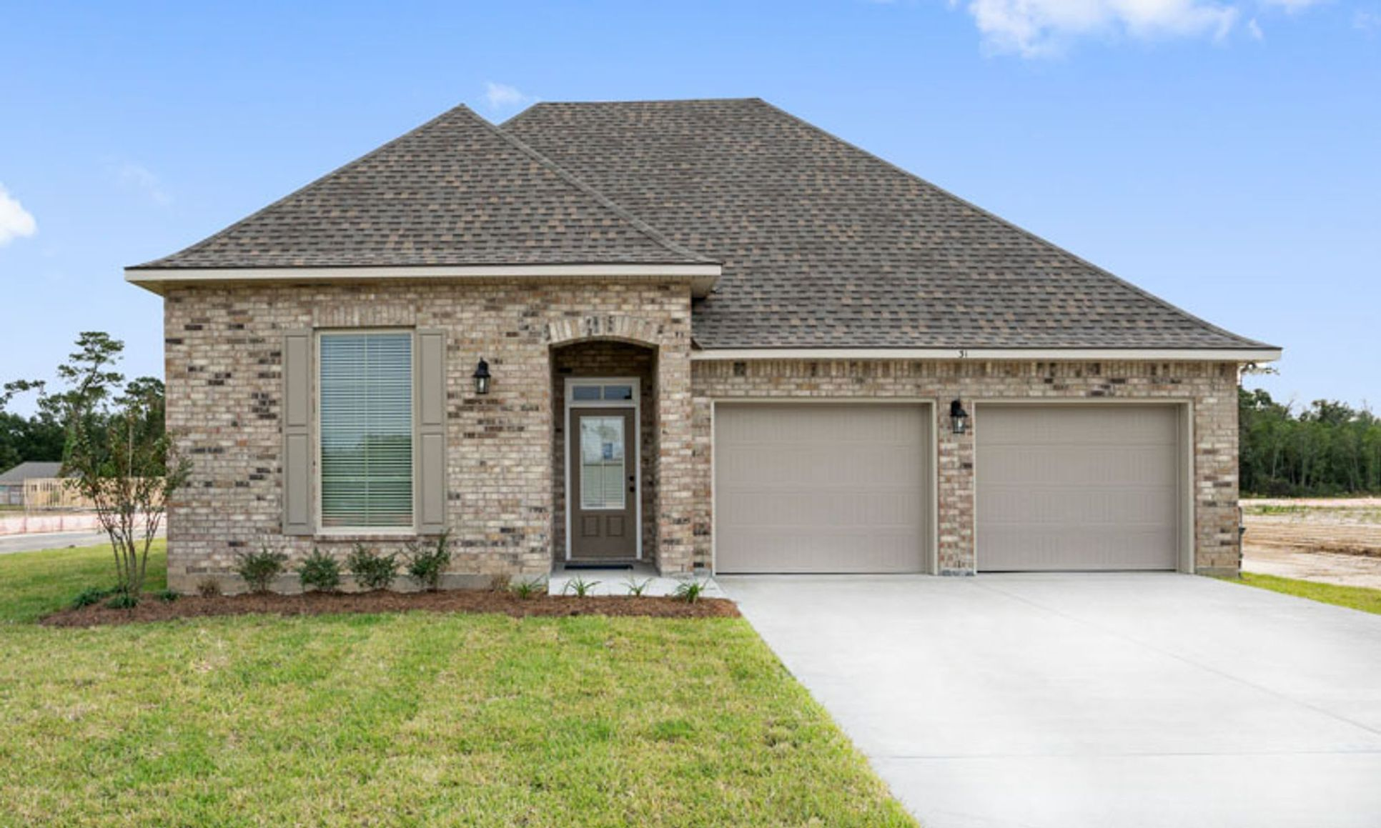 new construction homes in monroe la by dsld homes:Maple Creek Community Photos - Violet III B Floor Plan - DSLD Homes