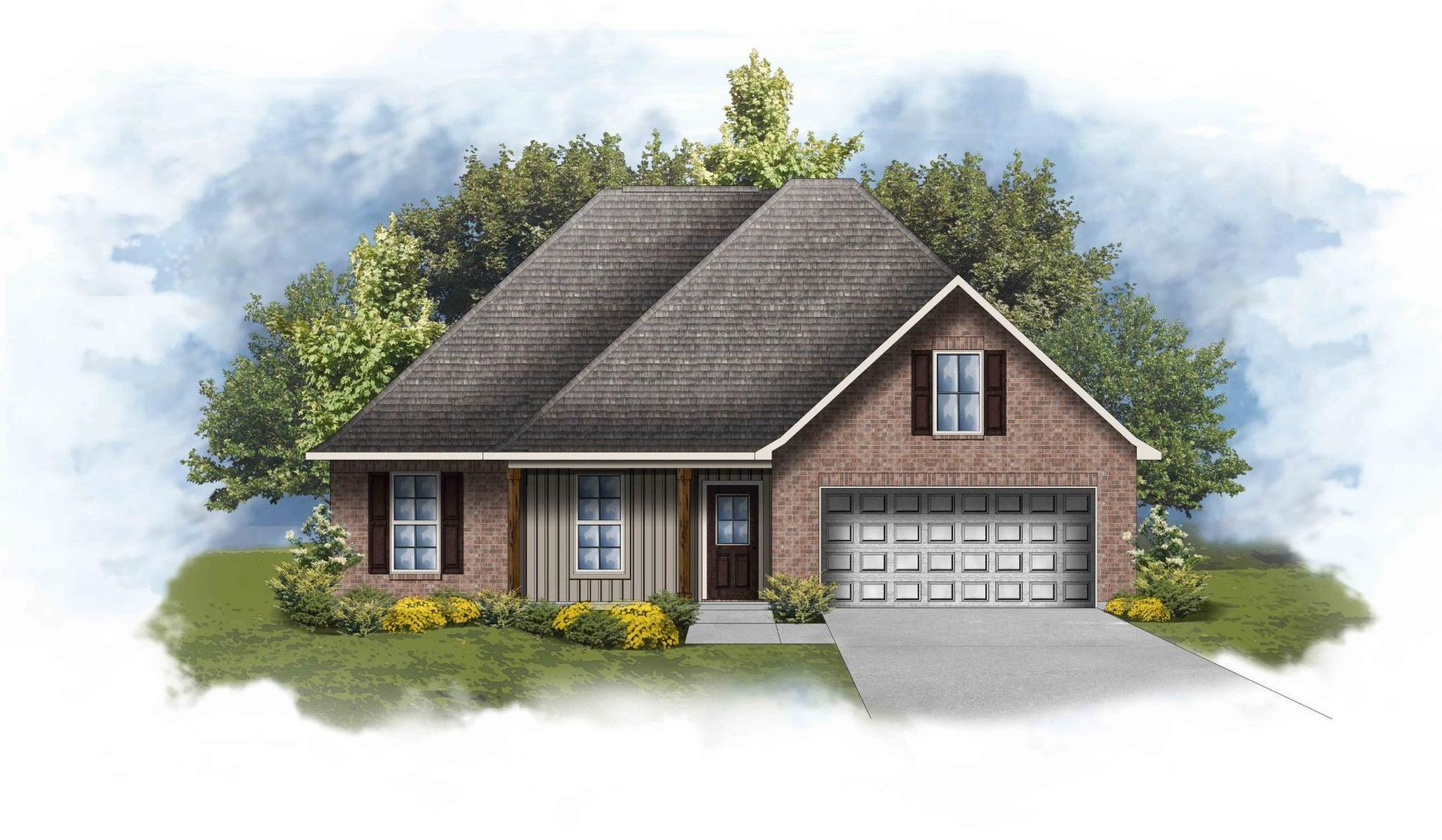 new homes in milton, FL in cherokee road by DSLD Homes:Ravenswood IV G - Floor Plan - DSLD Homes