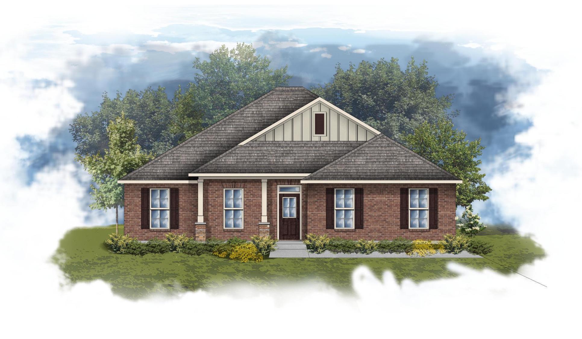 Rosita III B - Front elevation - Open floor plan