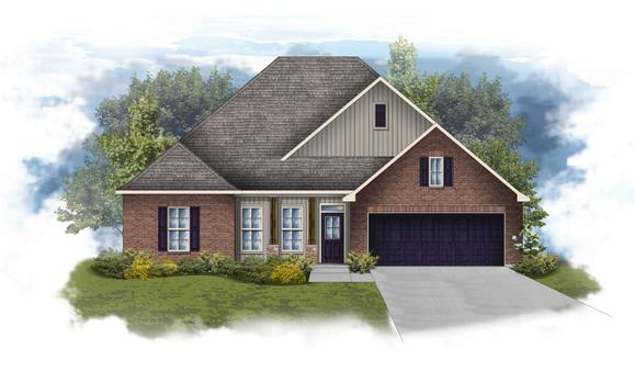 Collinswood II H - Elevation - Open Floor Plan