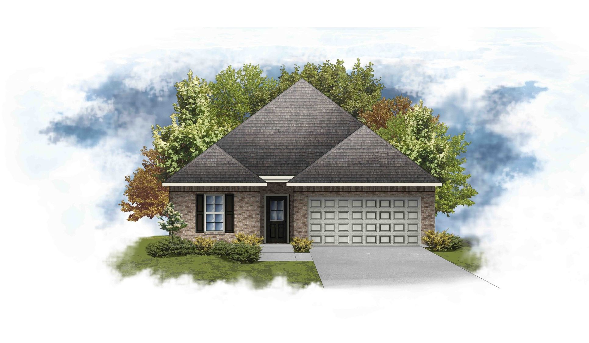 DSLD Homes - Puritan IV A Open Floorplan Elevation Image