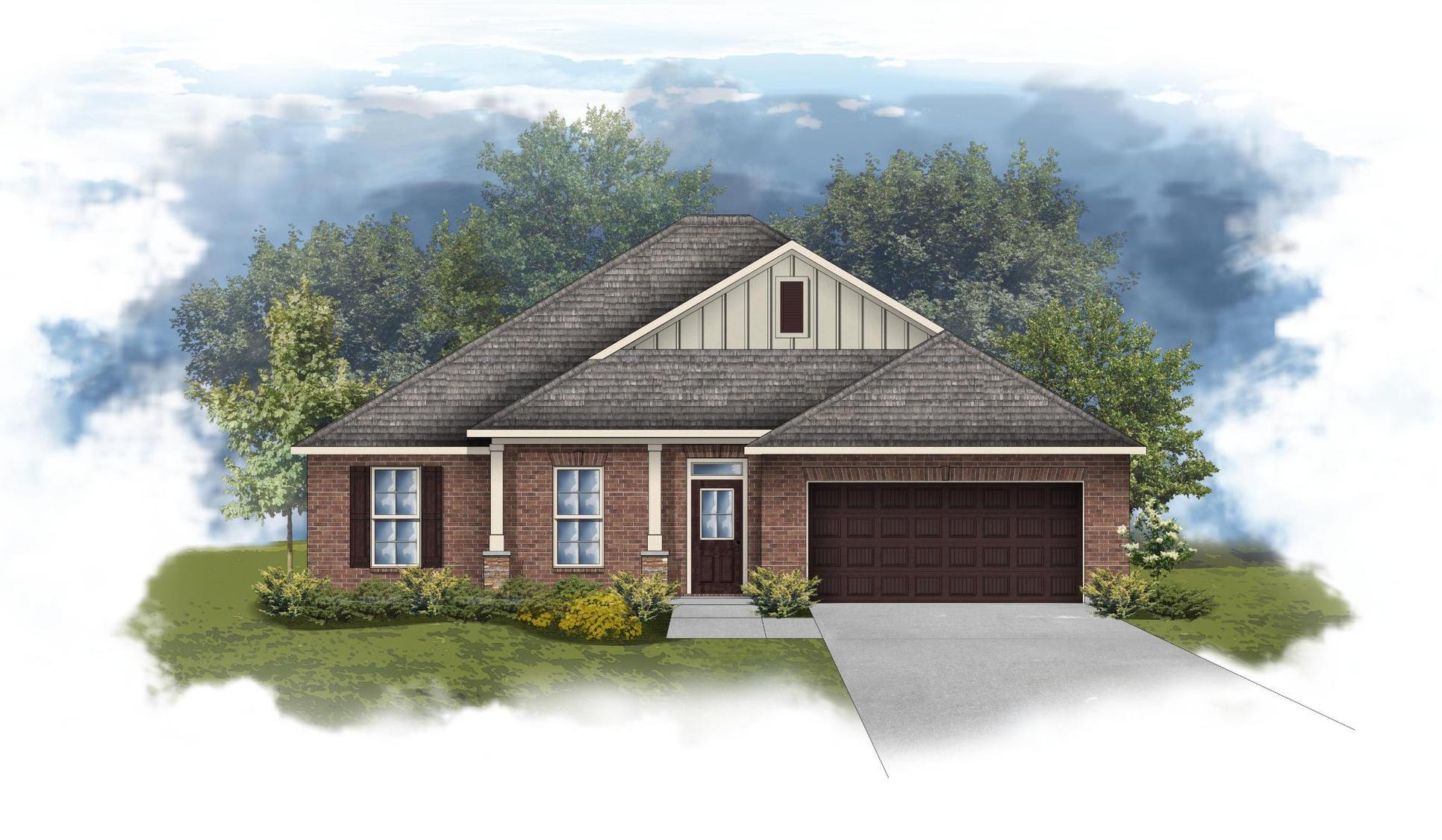 Rodessa III B - Front Elevation - DSLD Homes