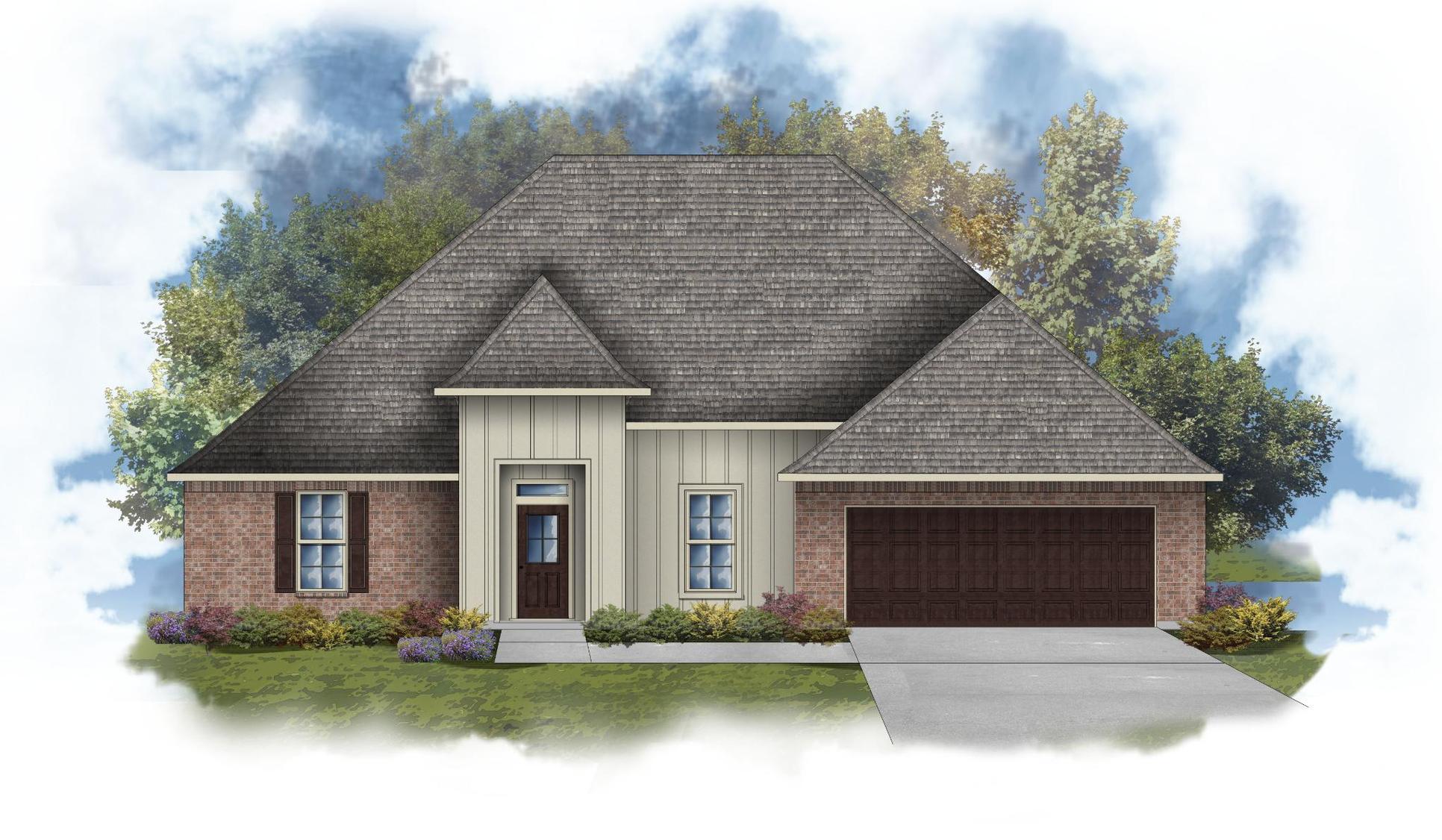 Arthur IV G - Front Elevation - DSLD Homes