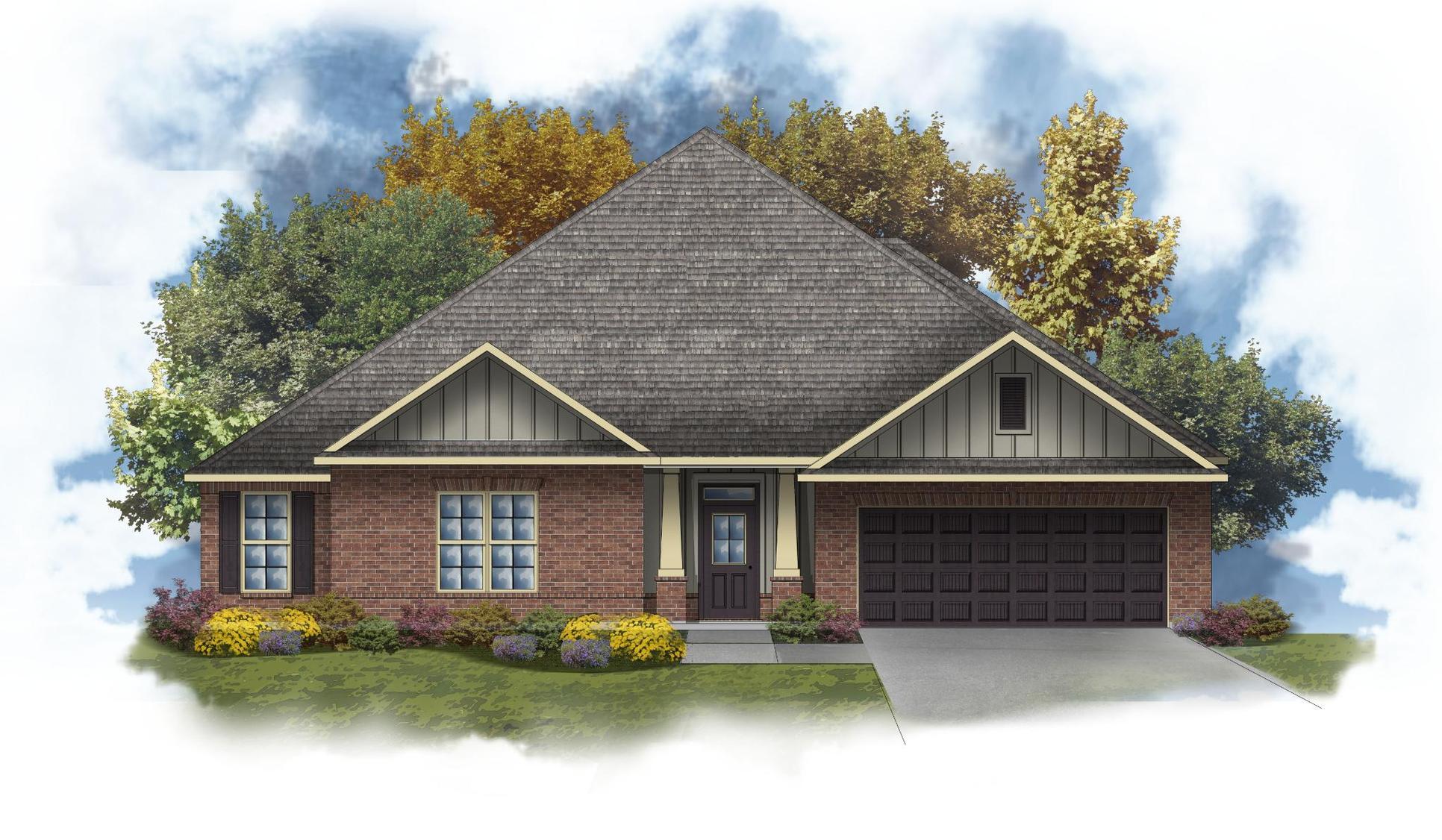 Taft IV G - Front Elevation - DSLD Homes