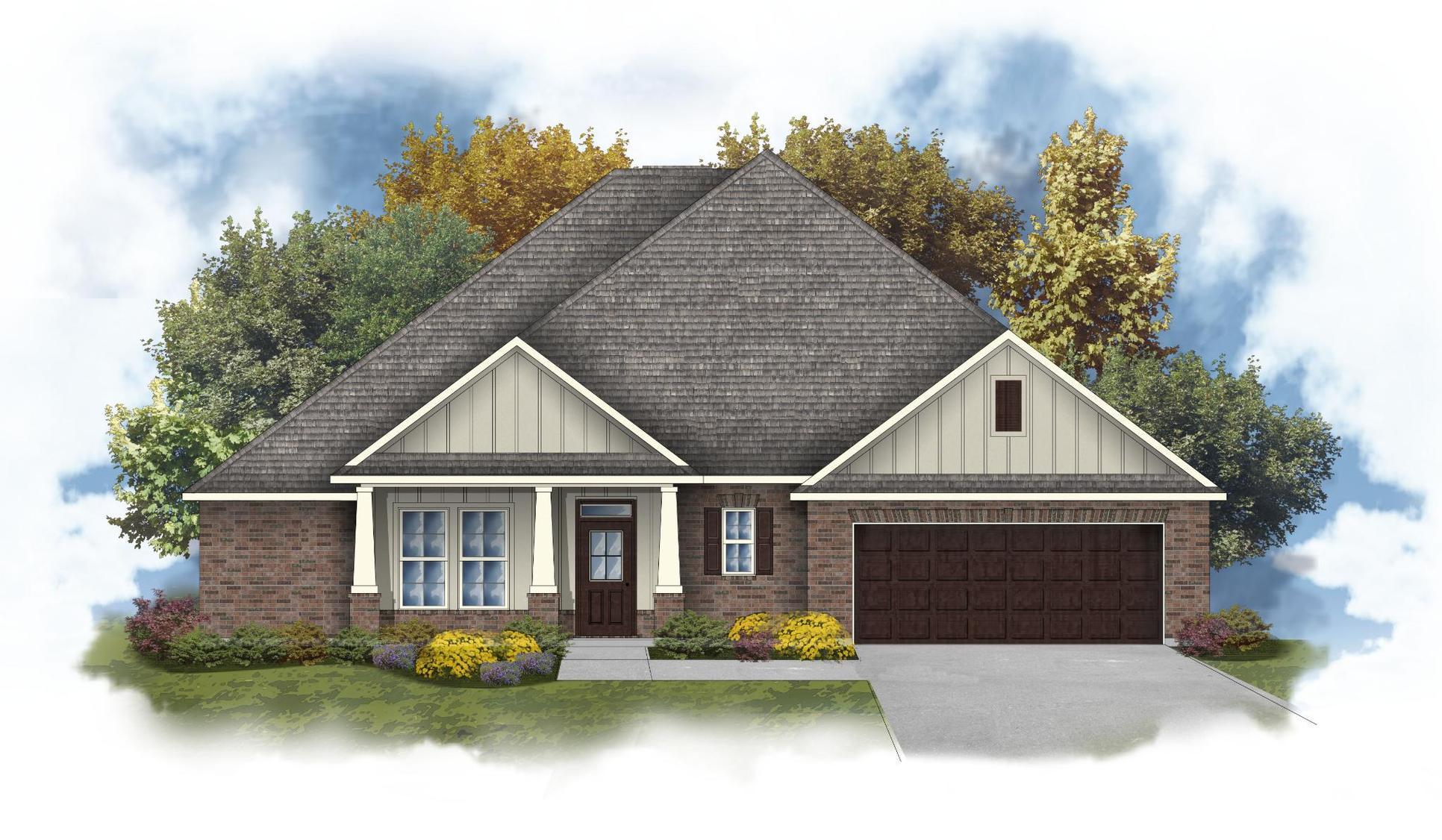Taysom III G - Front Elevation - DSLD Homes