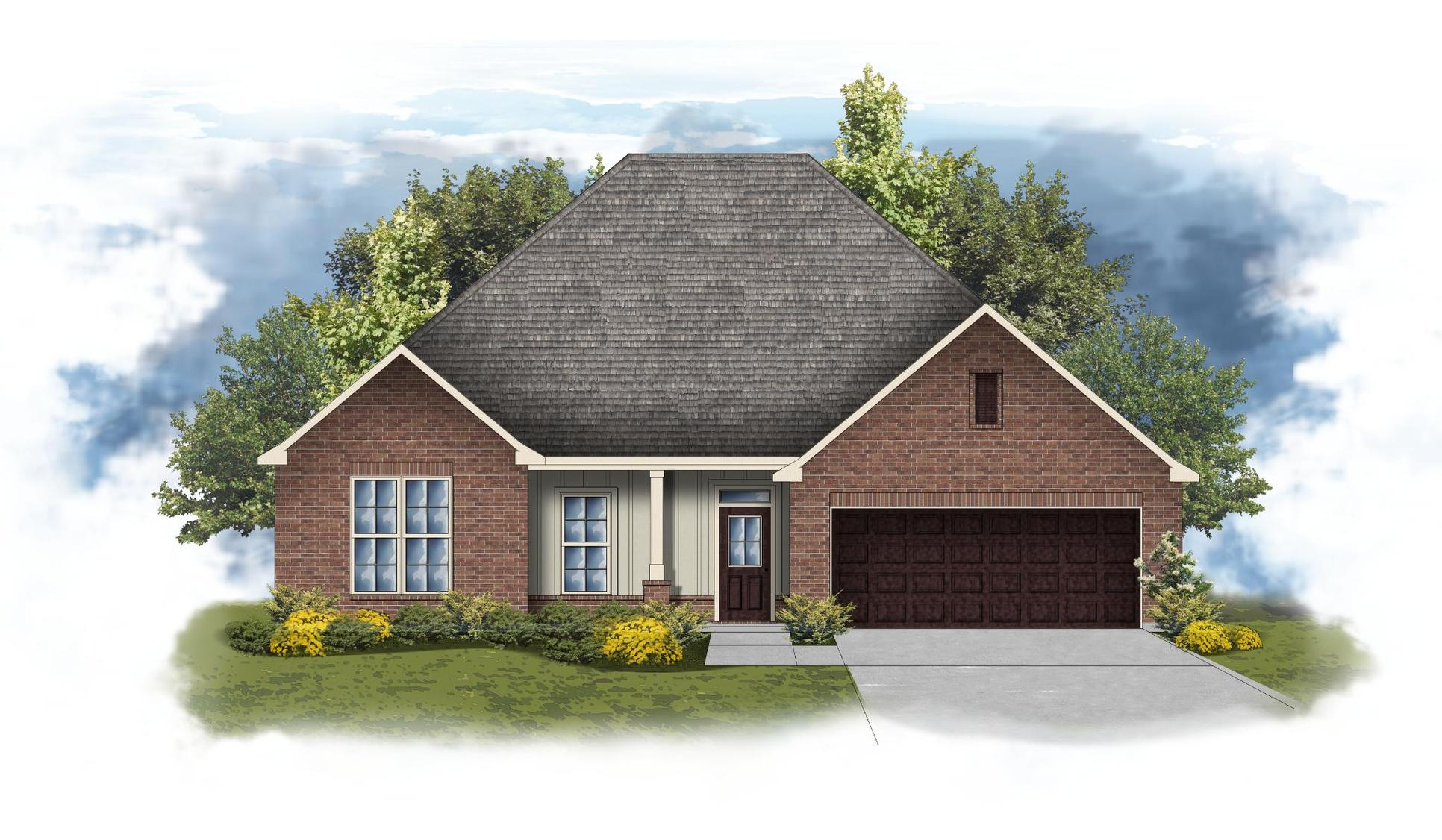 Comstock III G - Front Elevation - DSLD Homes