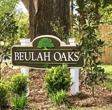 Beulah Oaks Front Entrance Sign- DSLD Homes- Pensacola