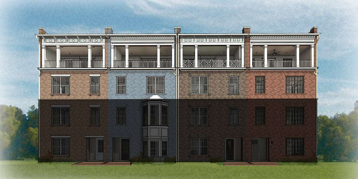 Eagle Construction McKinney Floorplan:2 Level Condos