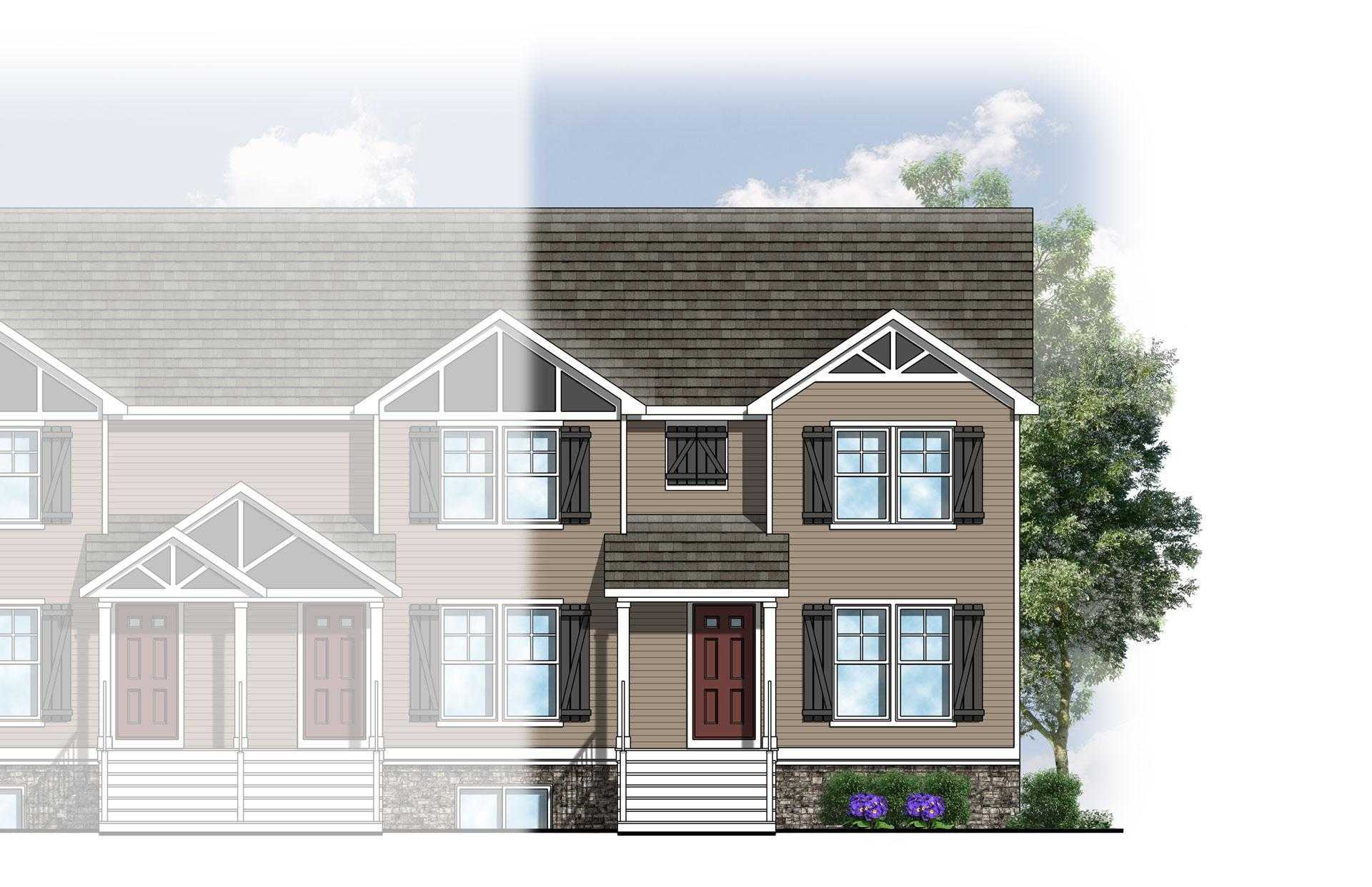 The College Fields Townhomes:Elevation