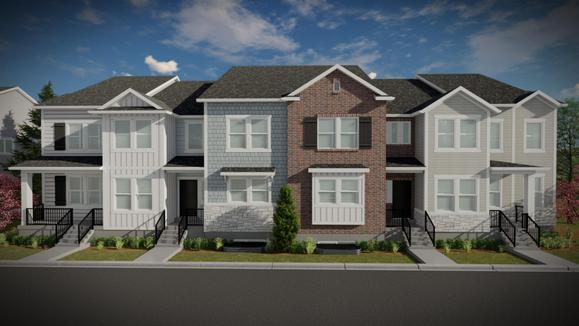 Alley Load Inner Townhome:Chantelle Elevation