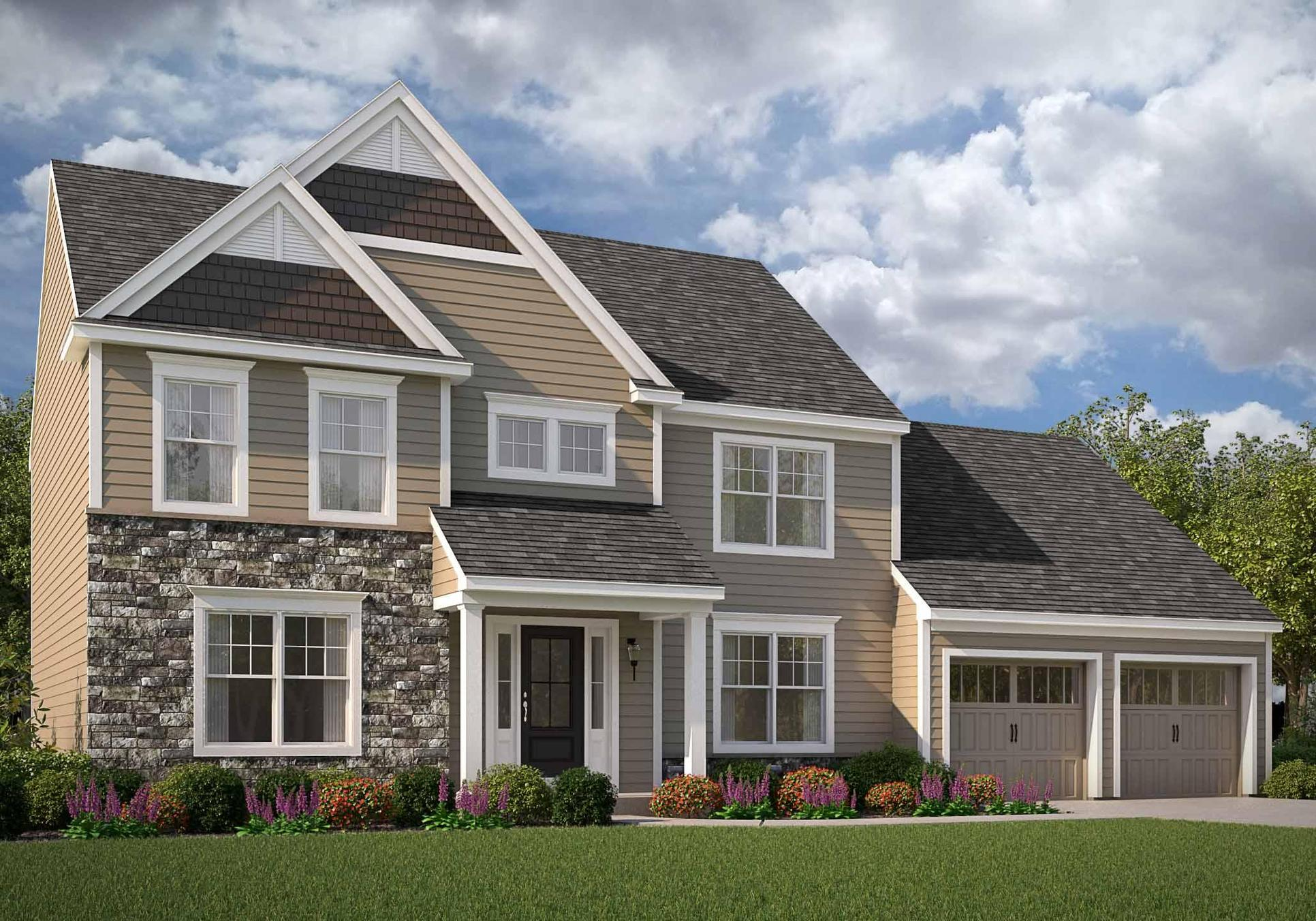 Brentwood American:(shown with optional carriage style garage doors)