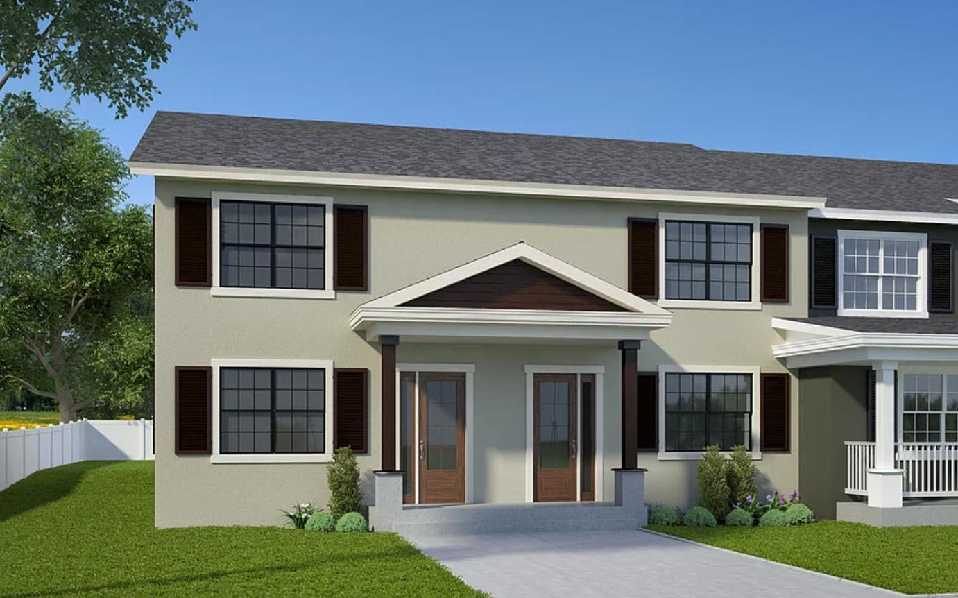 Scarlet Oak:Elevation 1