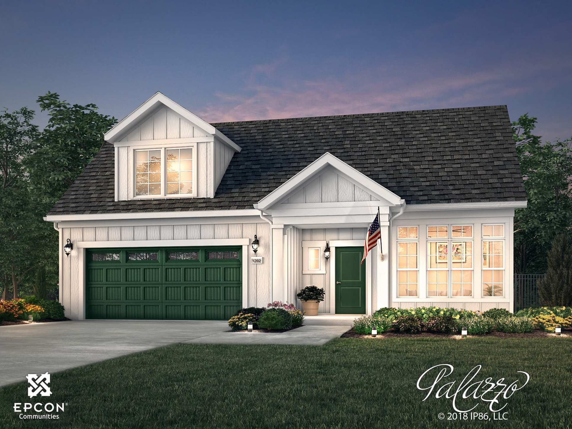 Epcon Palazzo Exterior Rendering Summer Cottage