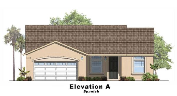 Sky Haven III- Residence 3:Elevation A Spanish