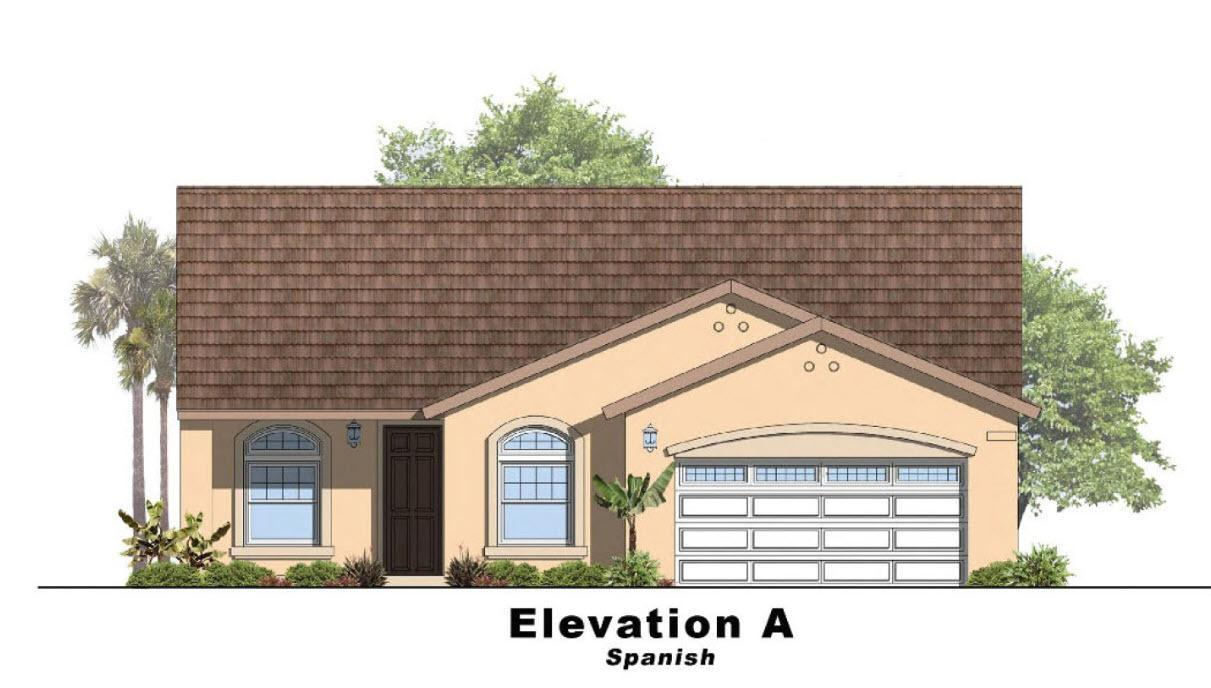 Sky Haven III- Residence 4:Elevation A Spanish