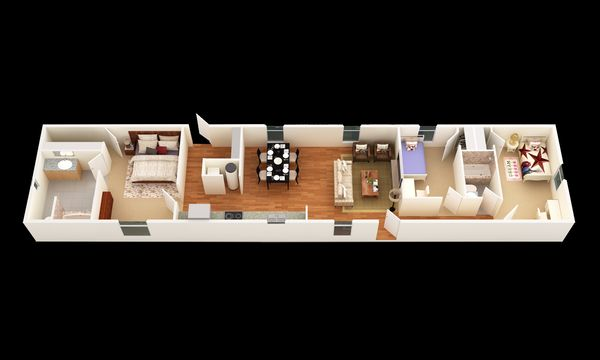 The Brazoria:3D Floor Plan