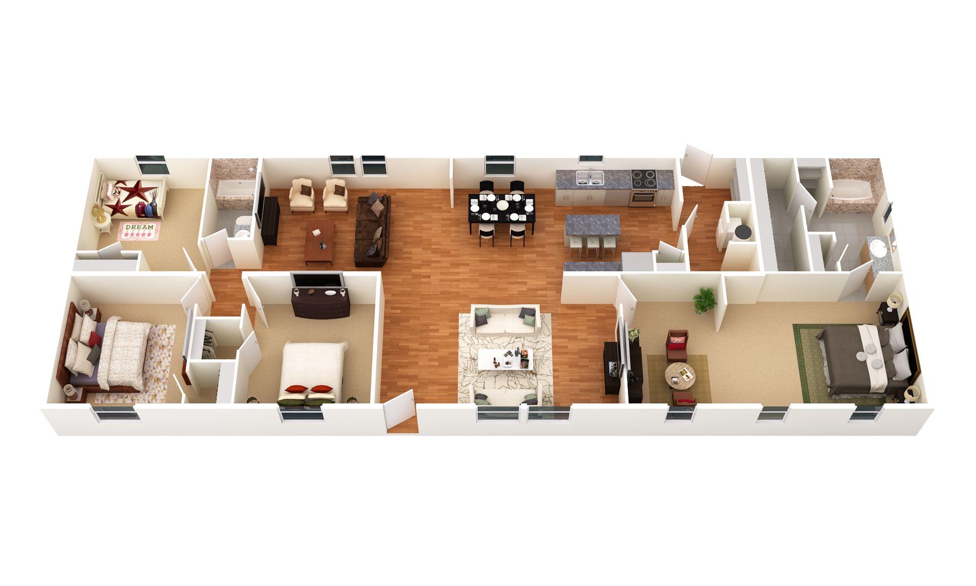The Harland :3D Floor Plan