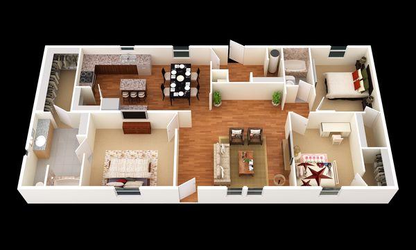 The Lariat:3D Floor Plan