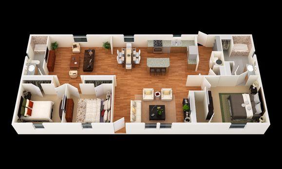 The Reiley:3D Floor Plan