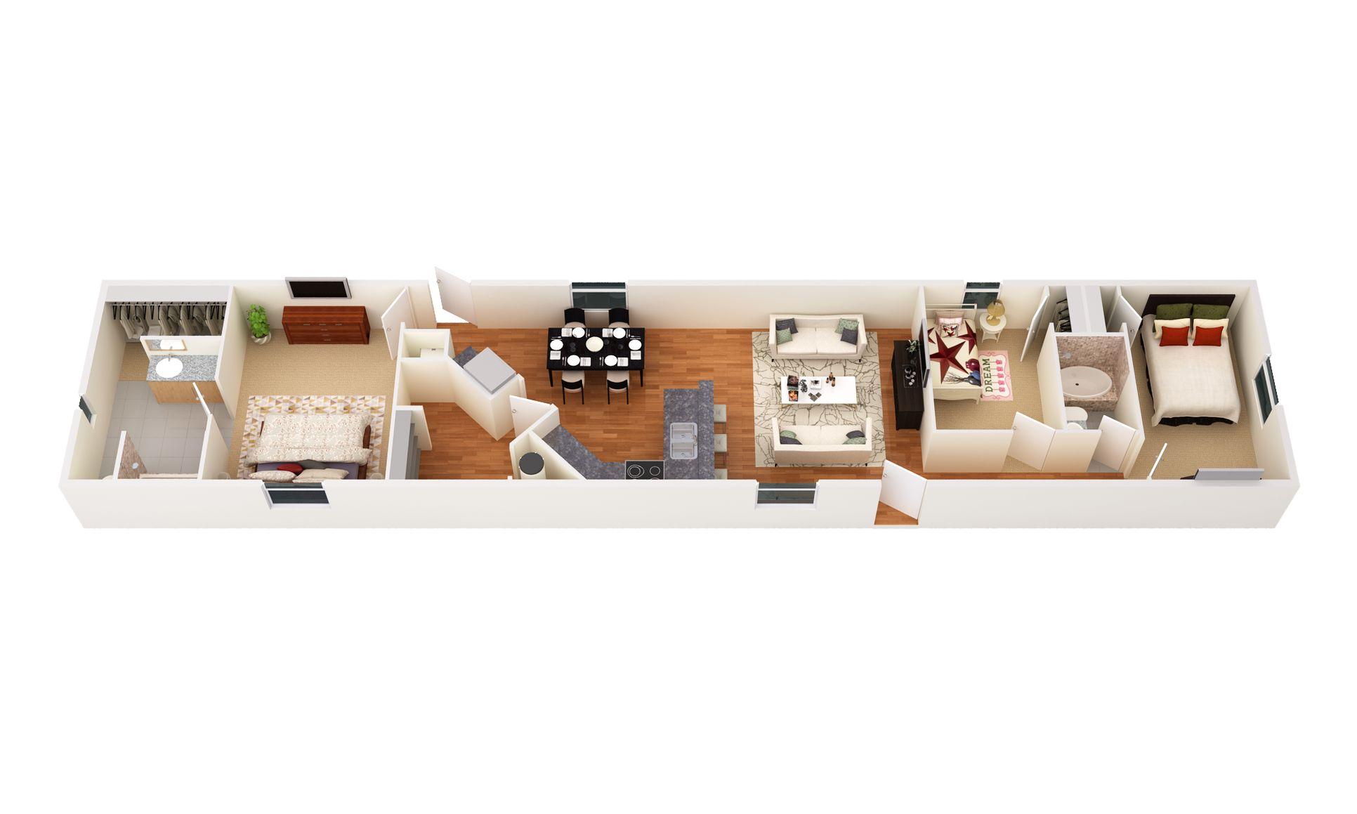 The Riata:3D Floor Plan