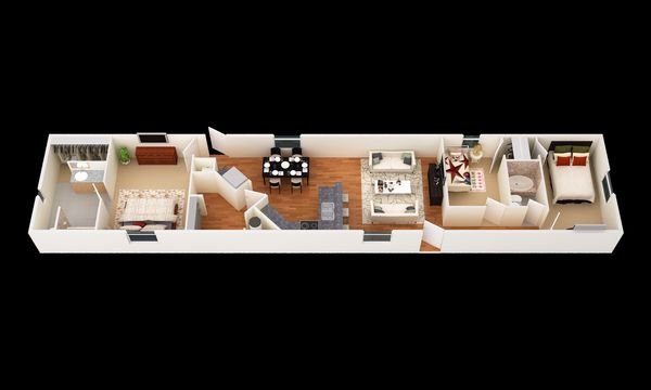 The Riata:3D Floor Plan