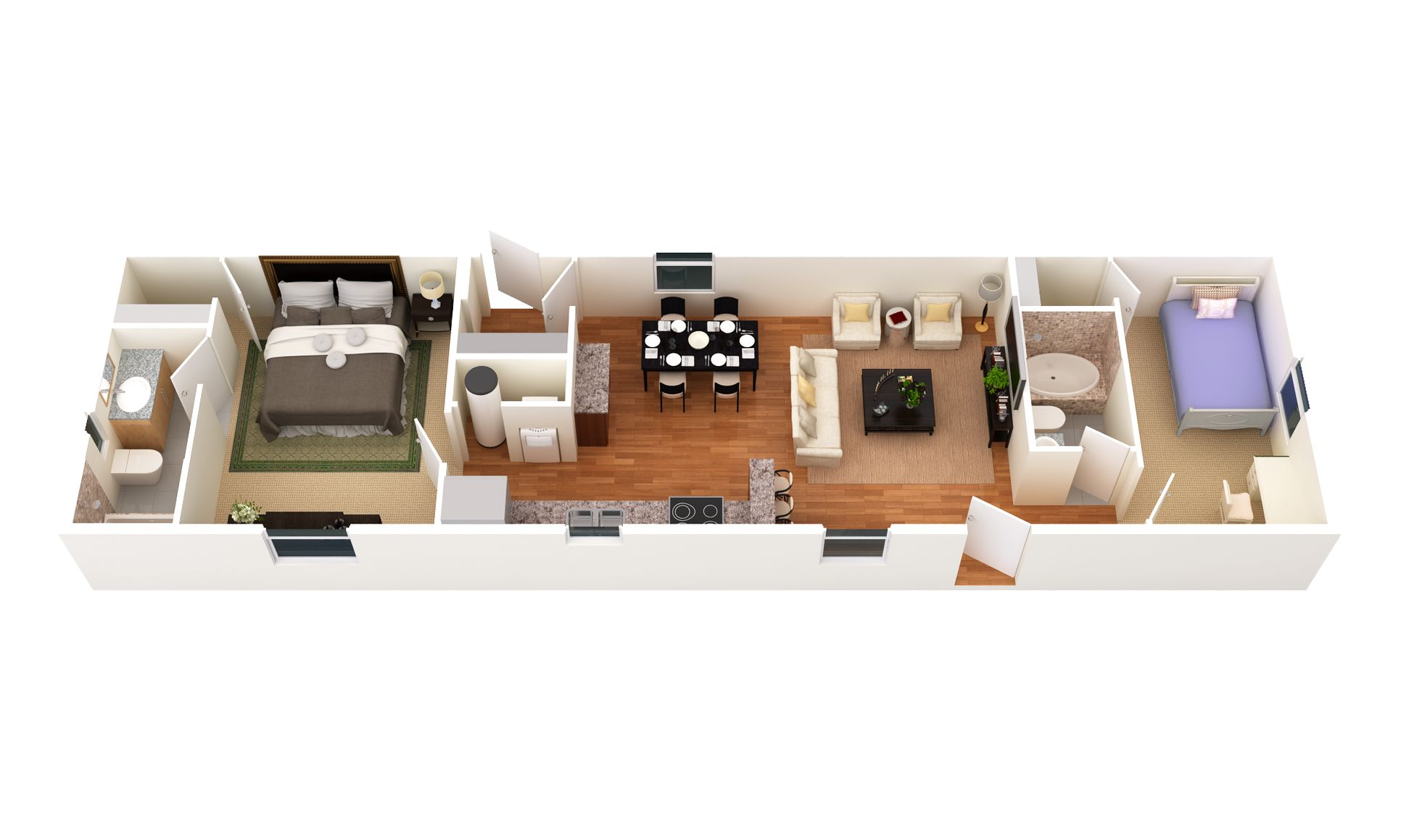 The Sand Springs:3D Floor Plan