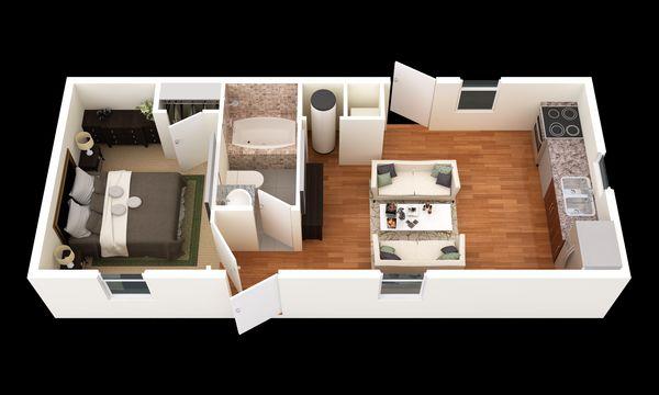 The Thrifty:3d Floor Plan