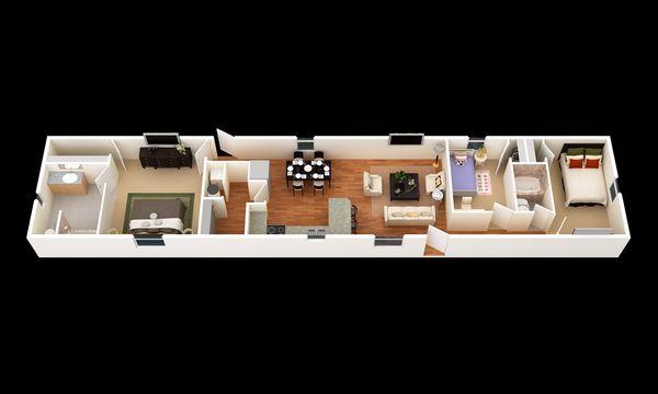 The Windcrest:3D Floor Plan