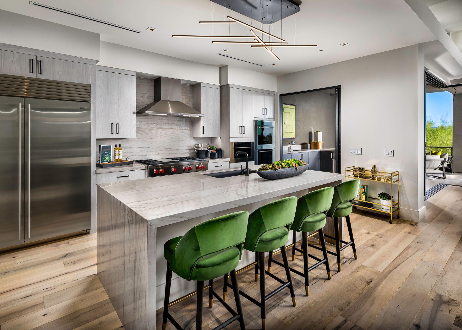 Our Zenith plan kitchen:www.theretreatatsevendesertmountain.com/models