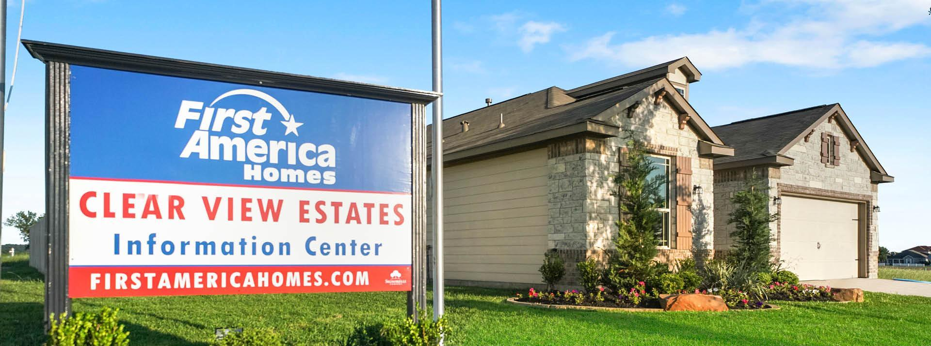 Clear View Estates:First America Homes