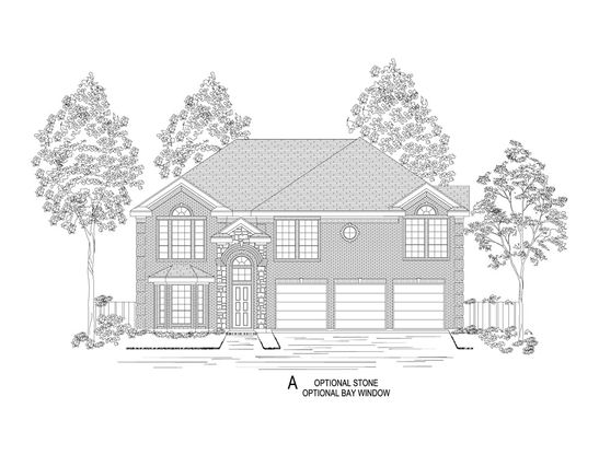 Elevation A:Shown with options.