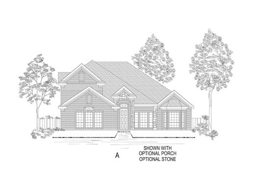 Elevation A - Standard:Shown with options.