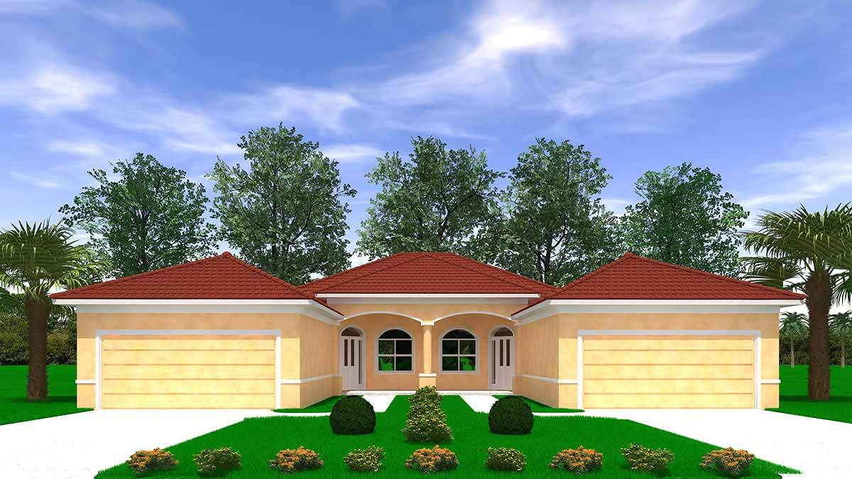 EVA. Two-Family Certified Green Home:Front view