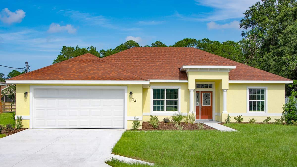 KAYLA II. Aging-in-place Certified Green home:Front view
