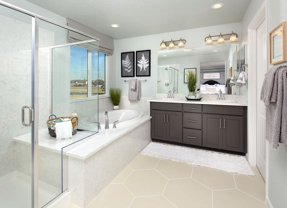 Master Bathroom   Plan 3: The Heartland:Plenty of room for the master of the household