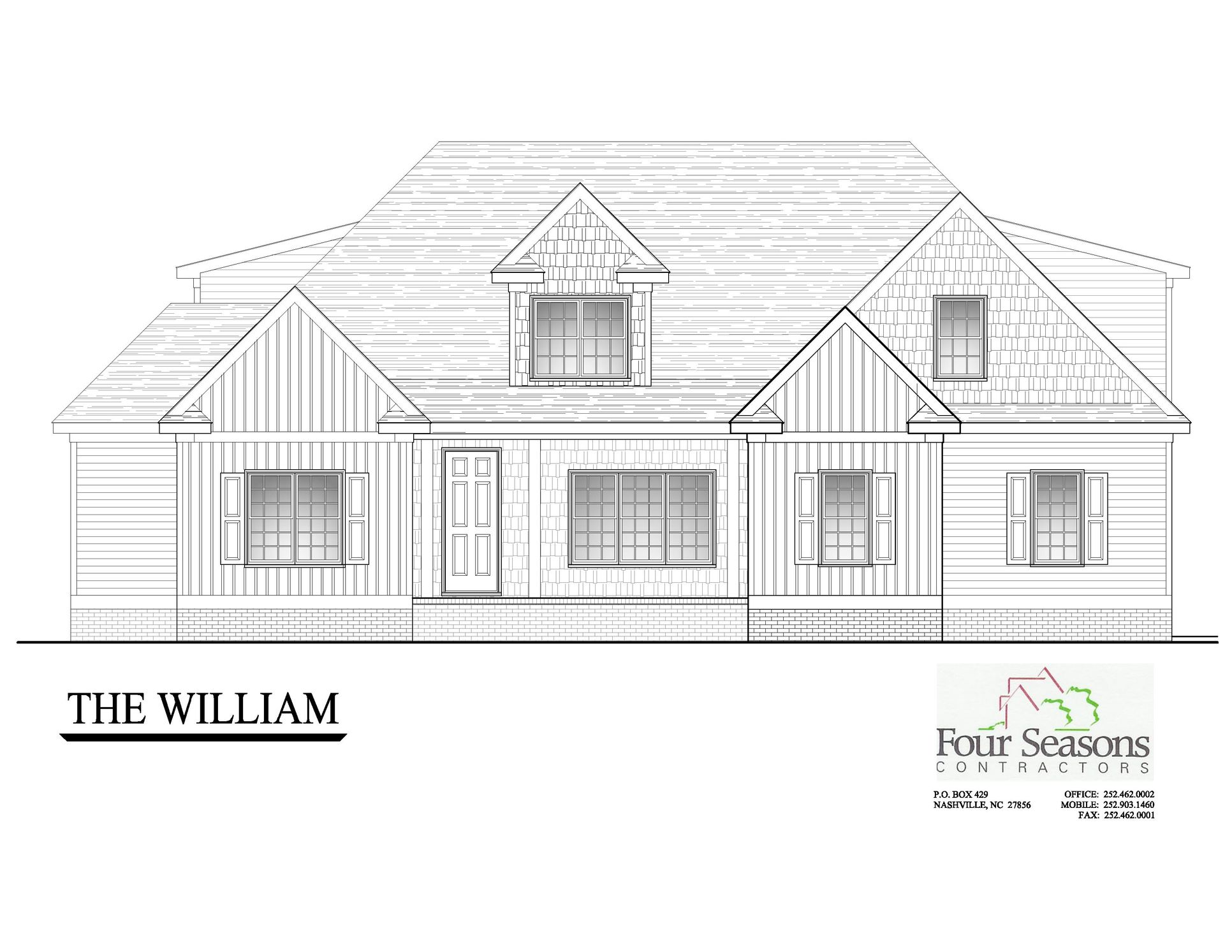 The William:Front Elevation
