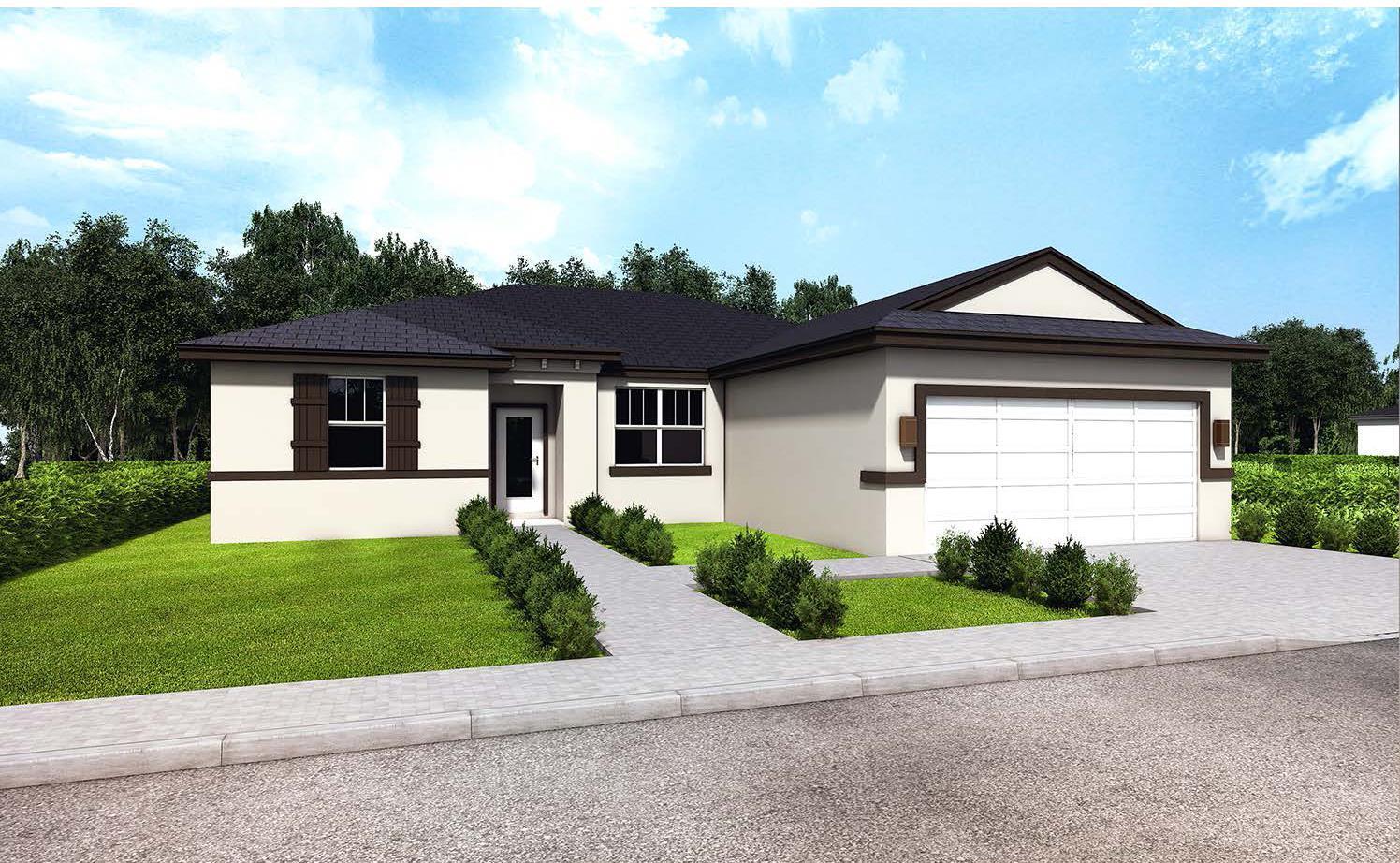 Model 1750 Elevation B:Genesis Homes