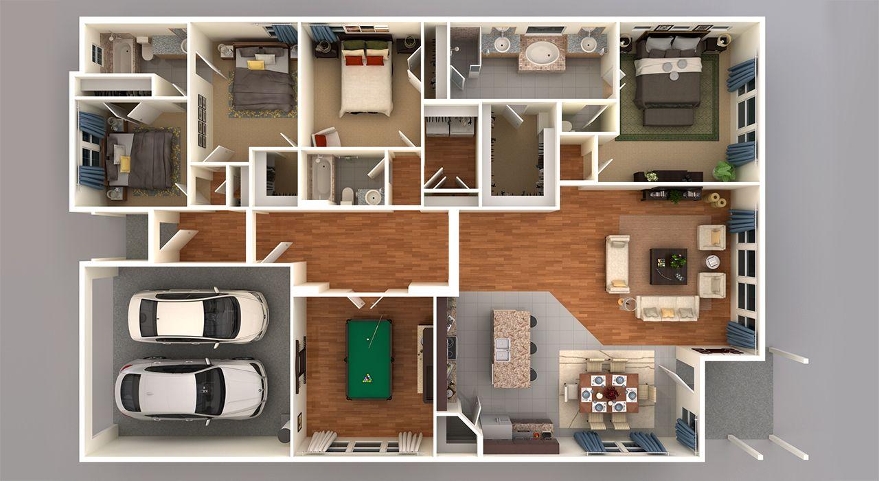 4125 3D Floor Plan