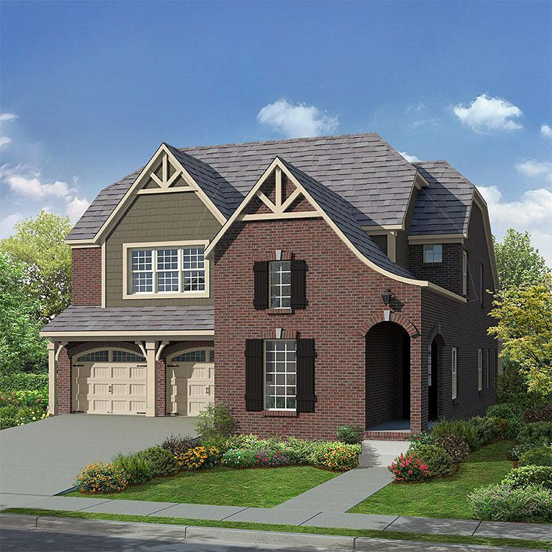 Exterior:Lincoln French Country
