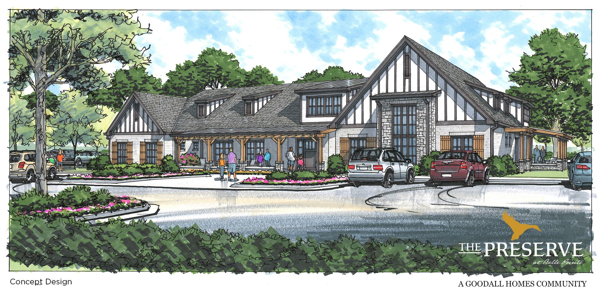 The Preserve at Belle Point Amenity Center Rendering