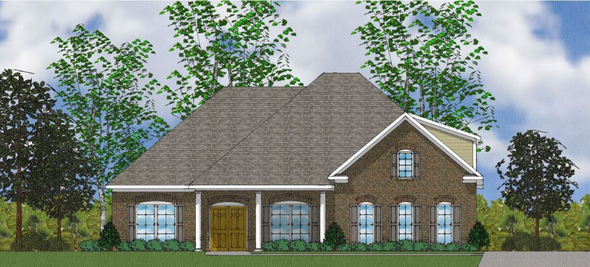 Exterior:The Blair - Elevation A Side Entry - With Bonus Room