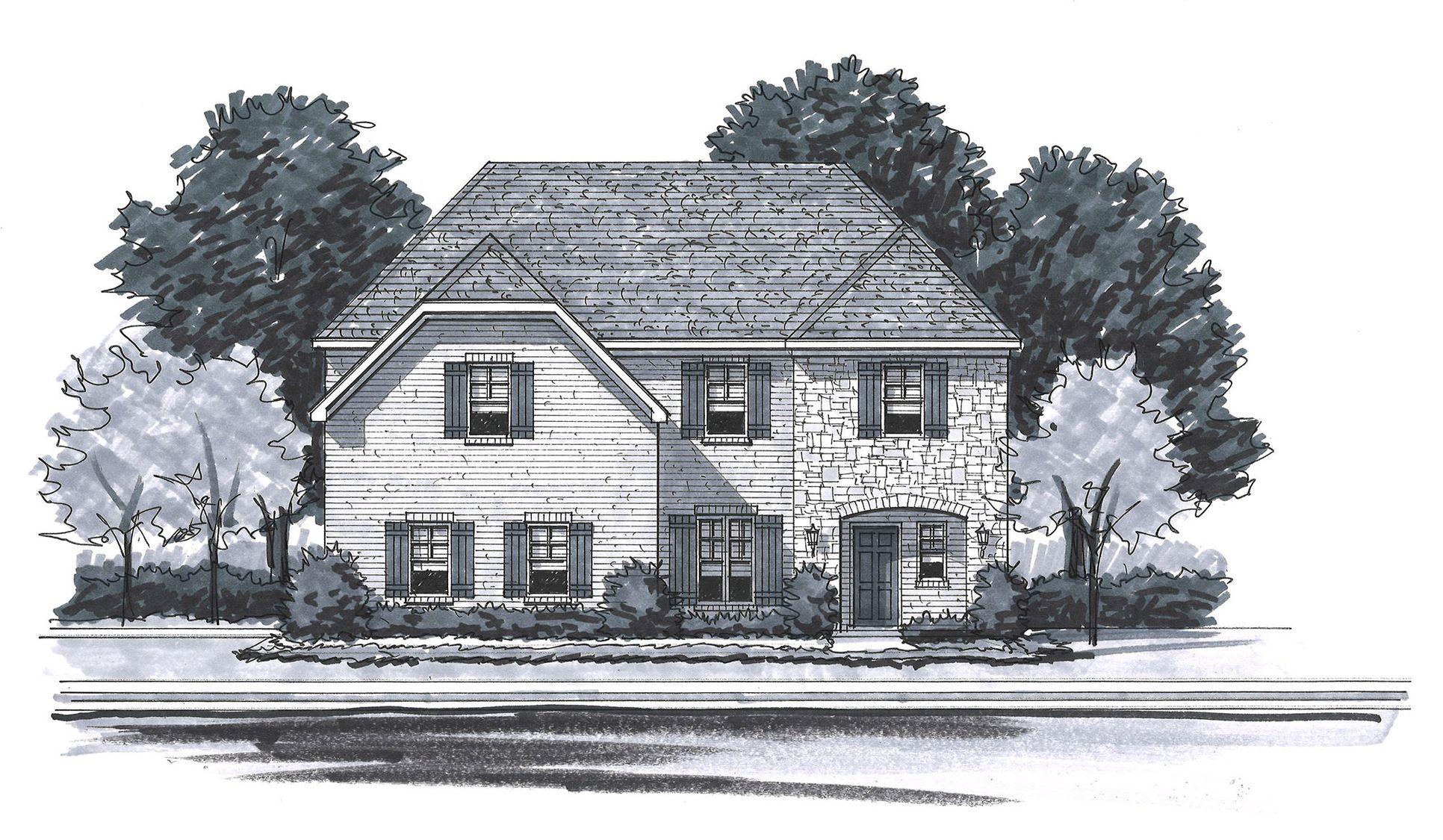 Exterior:The Alexandria - English Manor Side Entry