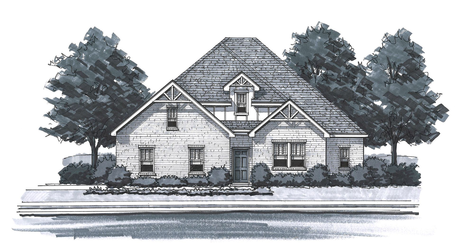 Exterior:The Loudon - Craftsman 1 Side Entry