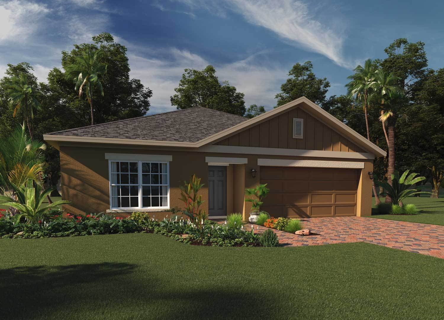 Elevation 1 with Cladding:Rendering of Kensington Flex  |  Hanover Family Builders