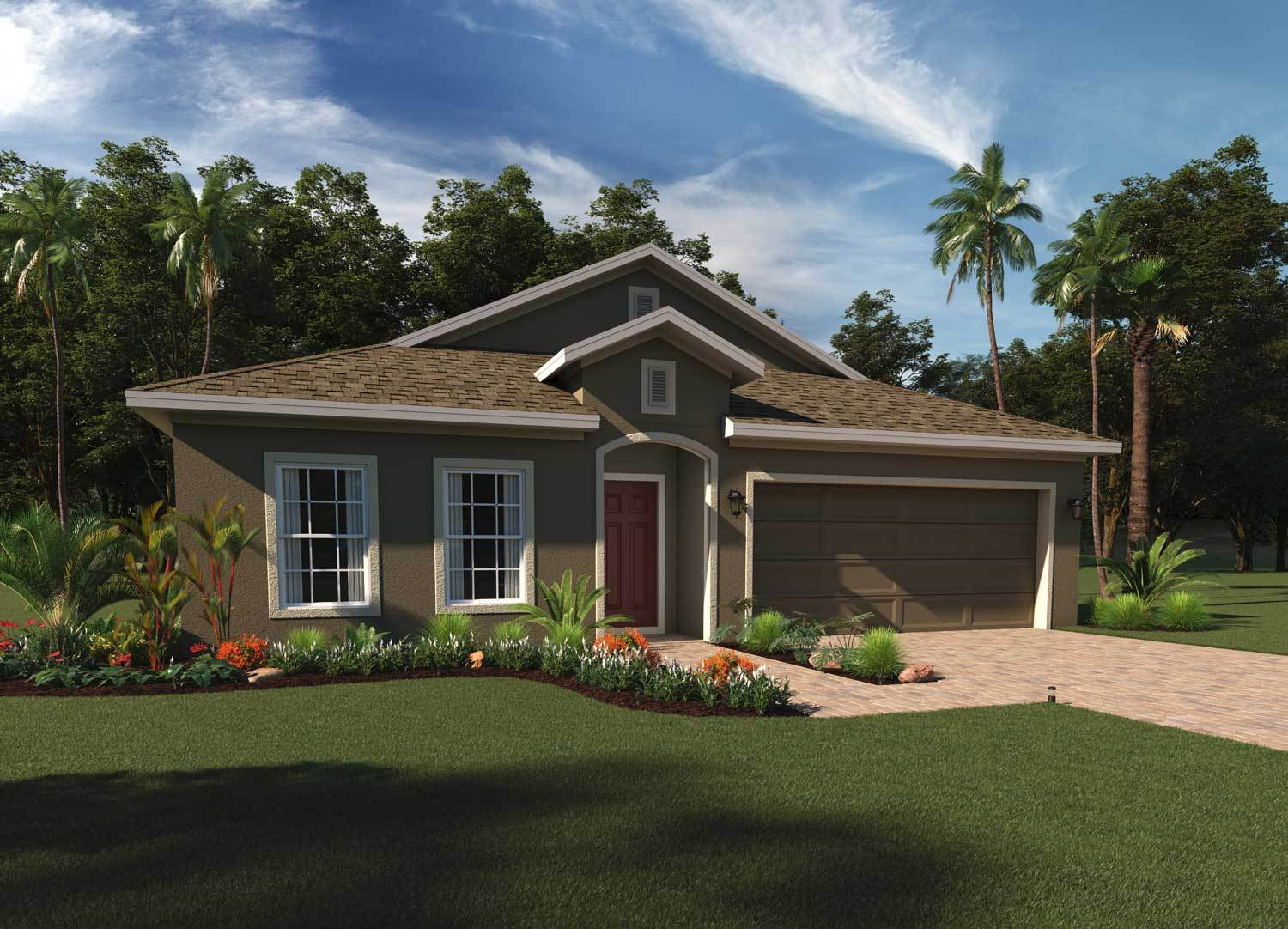 Kensington elevation 2:Rendering of Kensington Flex  |  Hanover Family Builders
