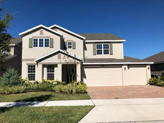 Elevation  |  4937 Blanche Court, Saint Cloud, FL (For Sale):Wilshire Premier Floor Plan  |  Hanover Lakes by Hanover Family Builders