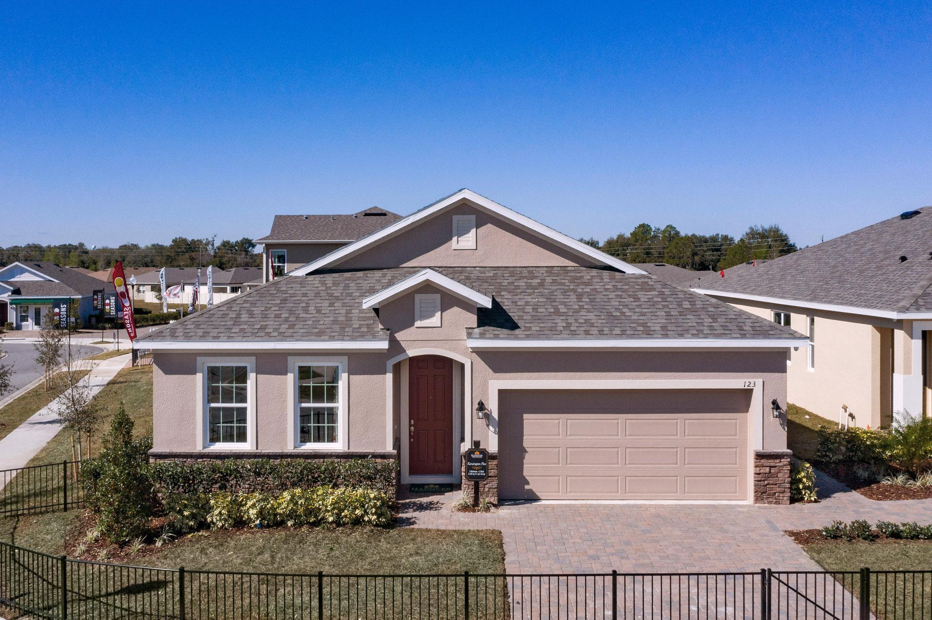 Model Home Front Elevation:Kensington Flex  |  Hanover Family Builders