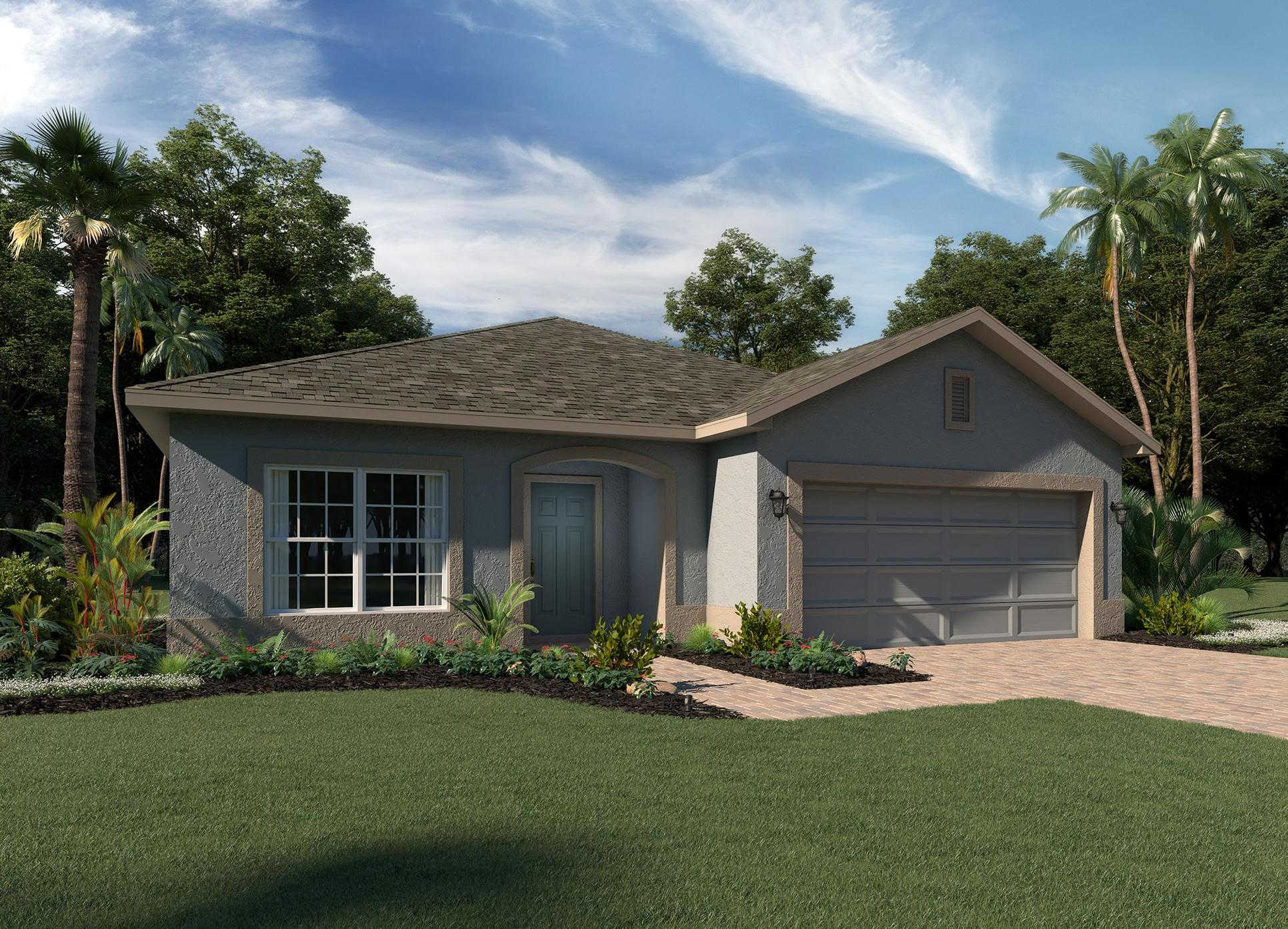 Elevation 2 stucco:Hanover Family Builders | Miles Floor Plan