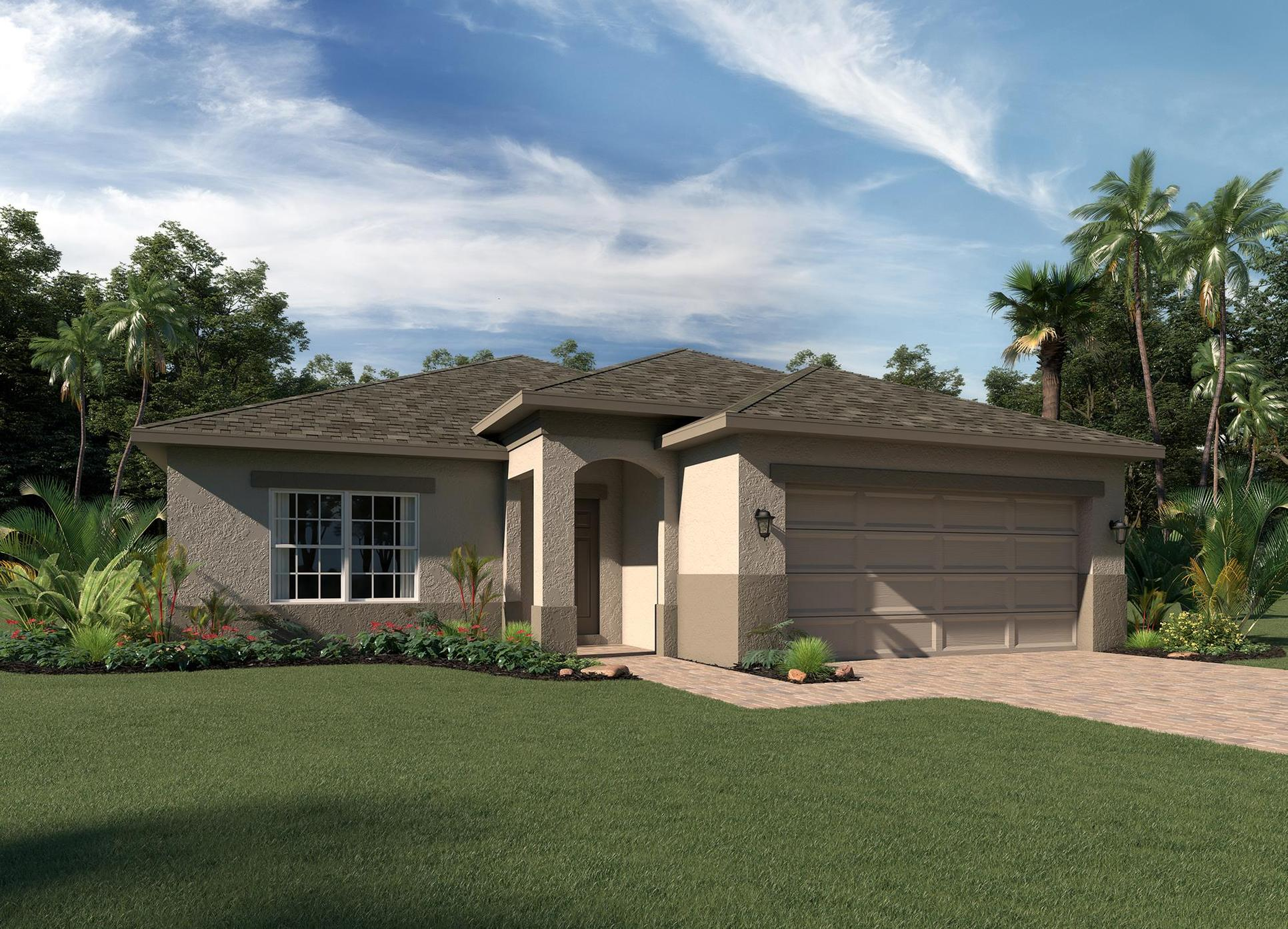 Elevation 1 - Stucco:Selby Floor Plan  |  Hanover Family Builders